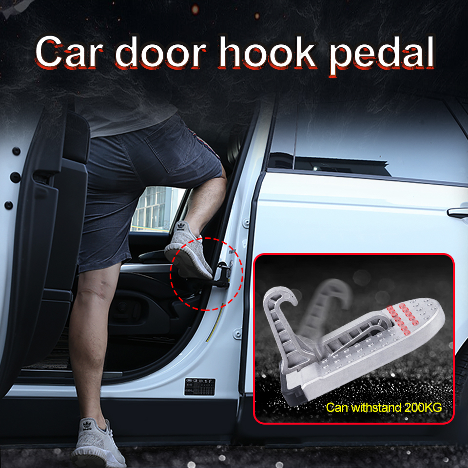 1PCS Car Door Pedal Wash Tool Non-slip Climbing The Roof Ascending Auxiliary Ladder SUV Folding Foot Pedal Accessories