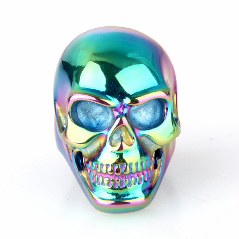 Fashion watches jewelers Men's 316L Stainless Steel Blue Gothic Skull Biker Ring Men's Jewelry New US Size 8/9/10/11/12/13