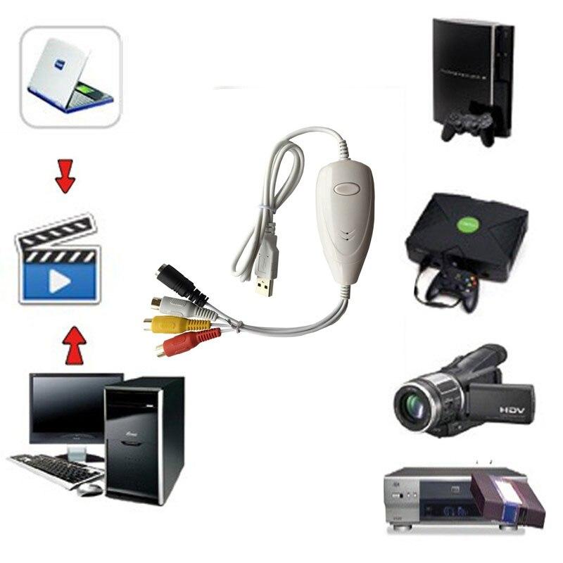 Ezcap1568 HD USB Video Capture Convert Analog Video Audio To Digital Recorder Converter Format For Windows 7 8 10 & MAC OS Win10