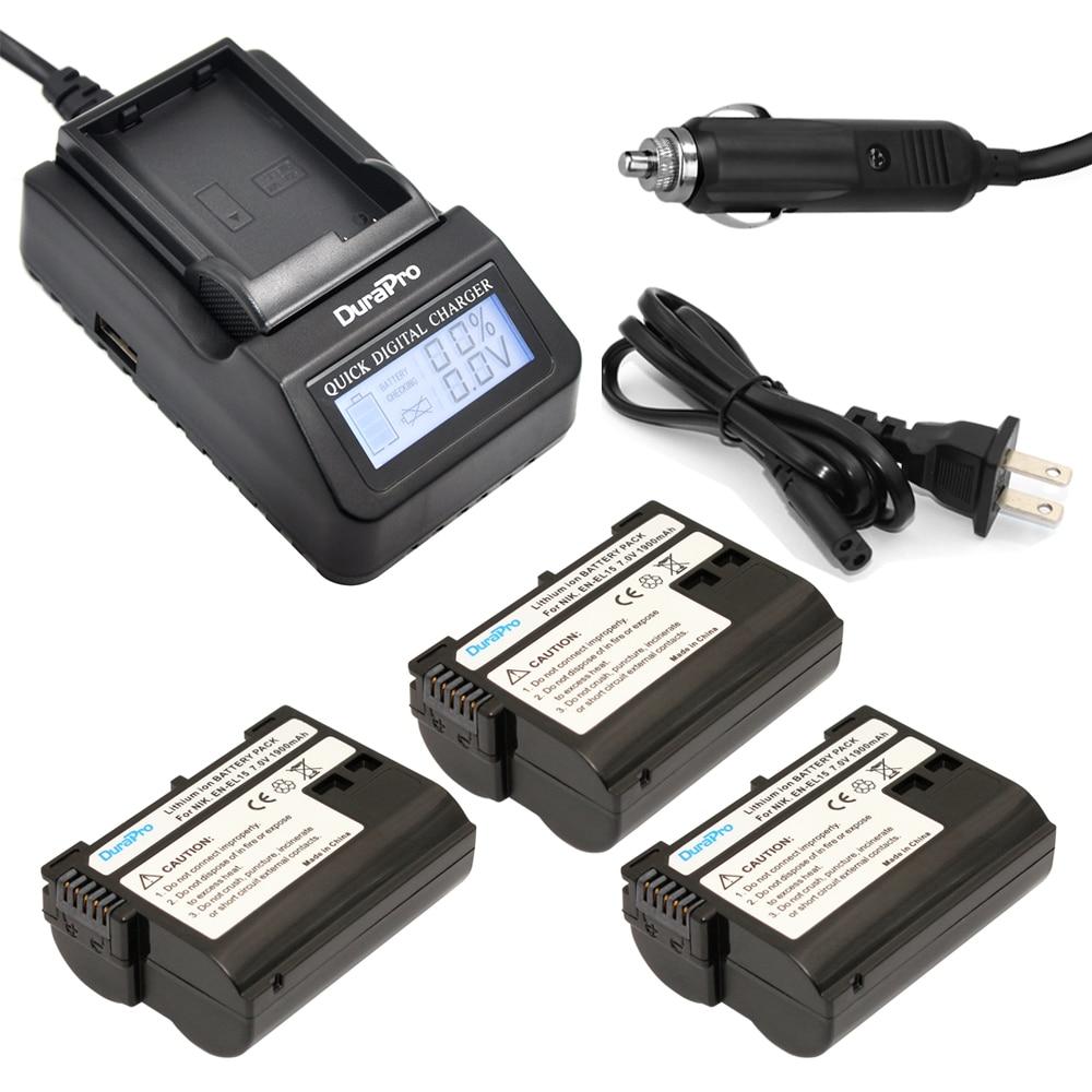 3 pc EN-EL15 ENEL15 ENEL15 Rachargeable Li-ion Batterie + LCD Chargeur Rapide Pour Nikon D600 D610 D600E D800 D800E D810 D7000 D71003 pc EN-EL15 ENEL15 ENEL15 Rachargeable Li-ion Batterie + LCD Chargeur Rapide Pour Nikon D600 D610 D600E D800 D800E D810 D7000 D7100