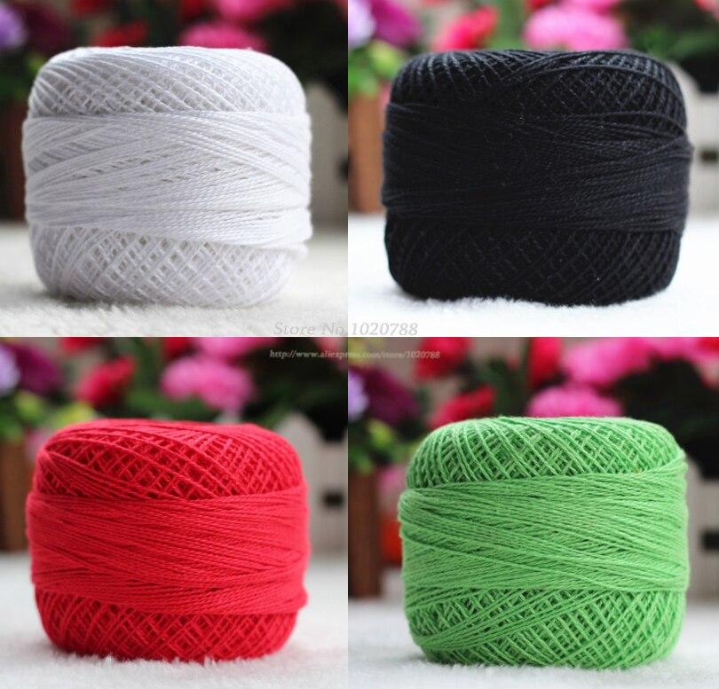 500 g/partij Nummer 5 kant garen Haak lijn Katoenen draad om knit Weave kintting draad Zomer puur katoen tafelkleed garen ZL4006