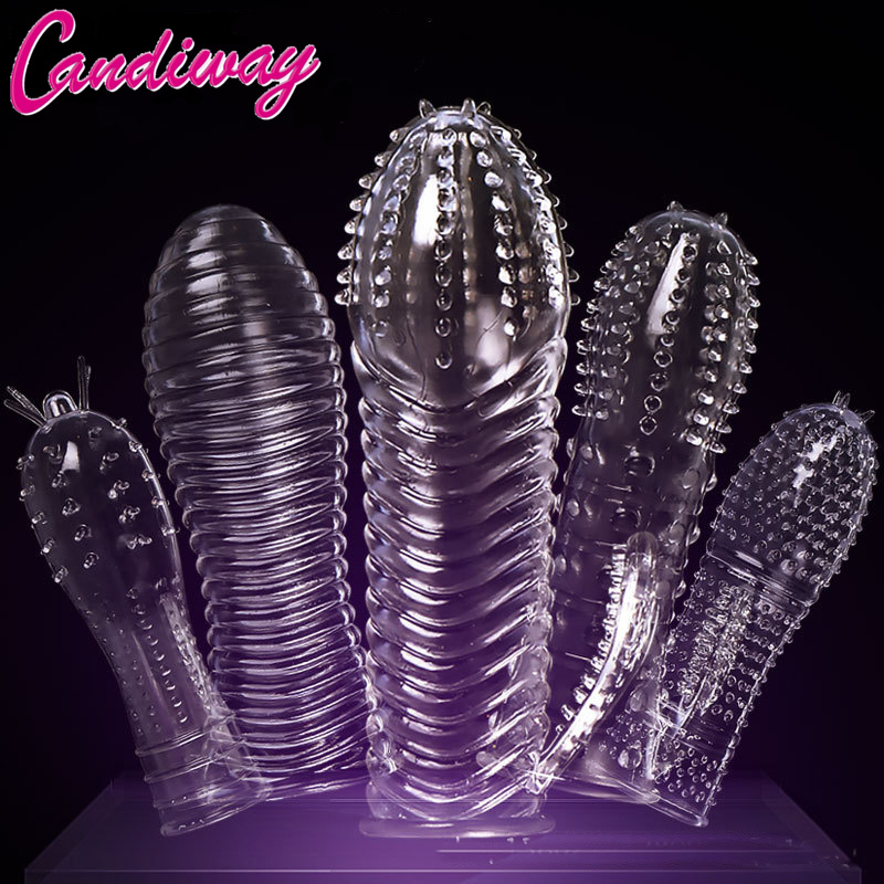 Extensions condom Penis Sleeve Male Enlargement Men Delay Spray clit massager Cock Ring vibrating cover Adult Sex Toys for Men ...