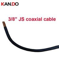 100 м 3/8 JS коаксиальный кабель, 50ohm питающего кабеля ПЭ изоляцией куртка гофрированные Медь труба кабель/, 3/8 JS CCTV кабель передачи
