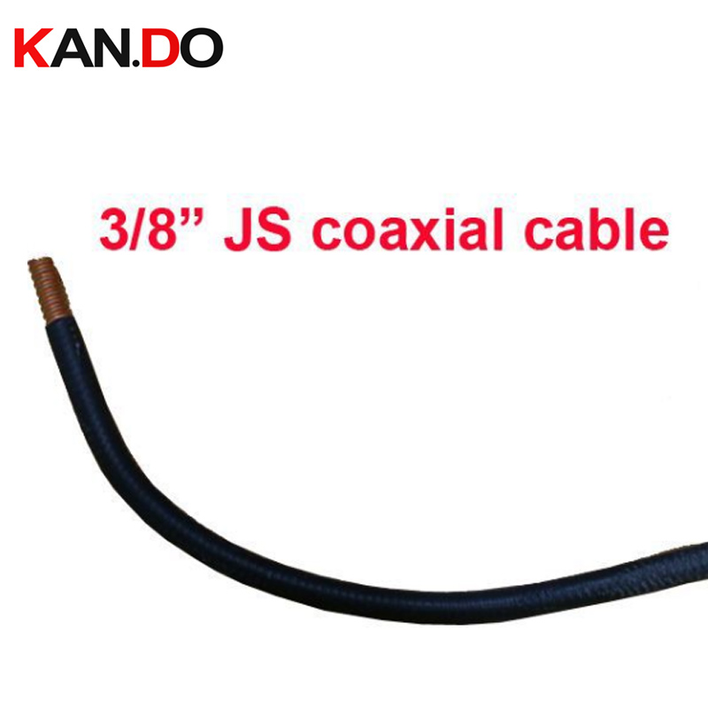 100m 3/8 JS Coaxial Cable,50Ohm Feeder cable PE insulation jacket Corrugated Copper Tube cable/,3/8 JS cctv transmission cable