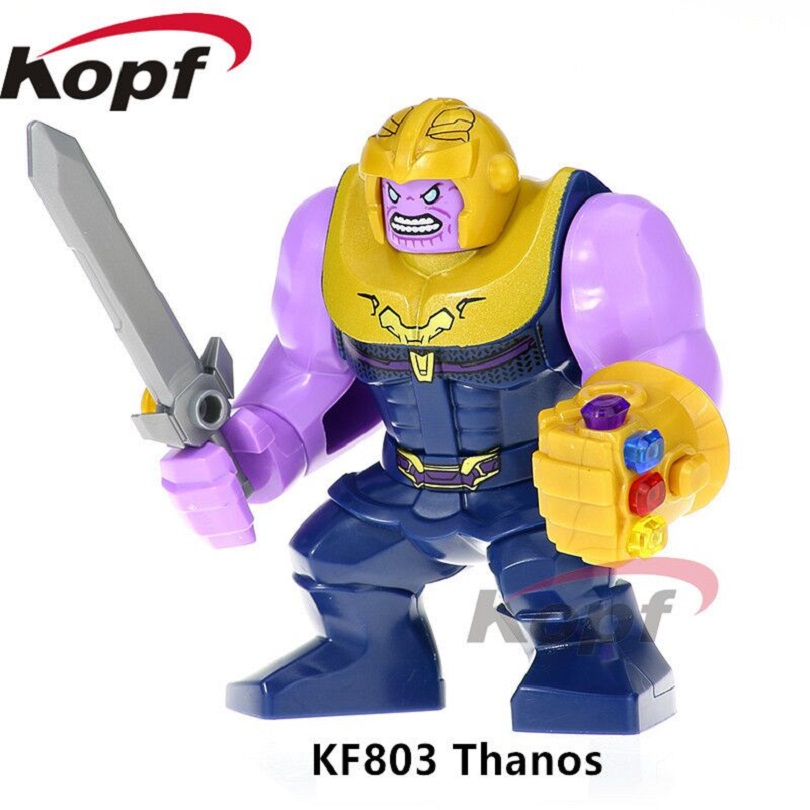 US $0 84 7% OFF KF803 Building Blocks Avengers INFINITY WAR Thonos Infinity  Gauntlet With Gems Stones Model Bricks Collection For Children Toys -in