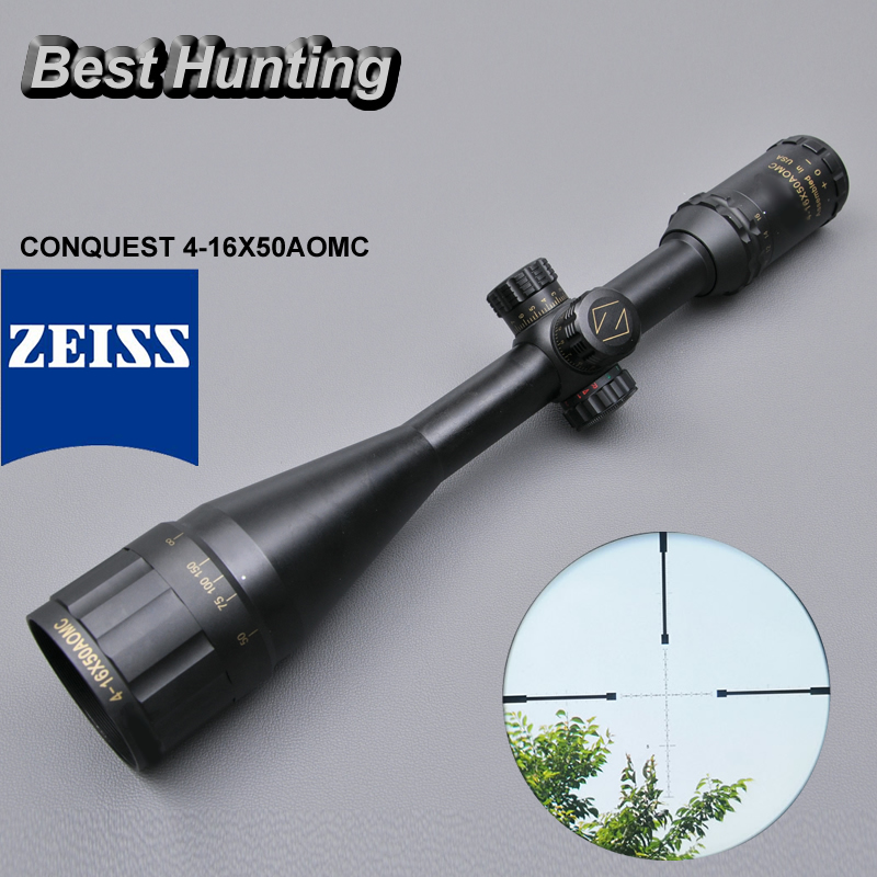Zeiss Conquest 4-16x50AOMC Hot Sale Aiming Scope with Red and Green Lights For Outside Sniper бинокль carl zeiss 8x20 t conquest compact