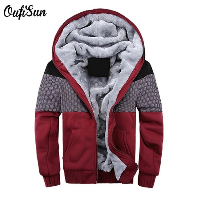 oufi sun 2017 Hot New Zipper Jacket Fleeces Hoodie Logo Winter JiaRong Fleece Mens Brand Sweatshirts True quality Free Shipping