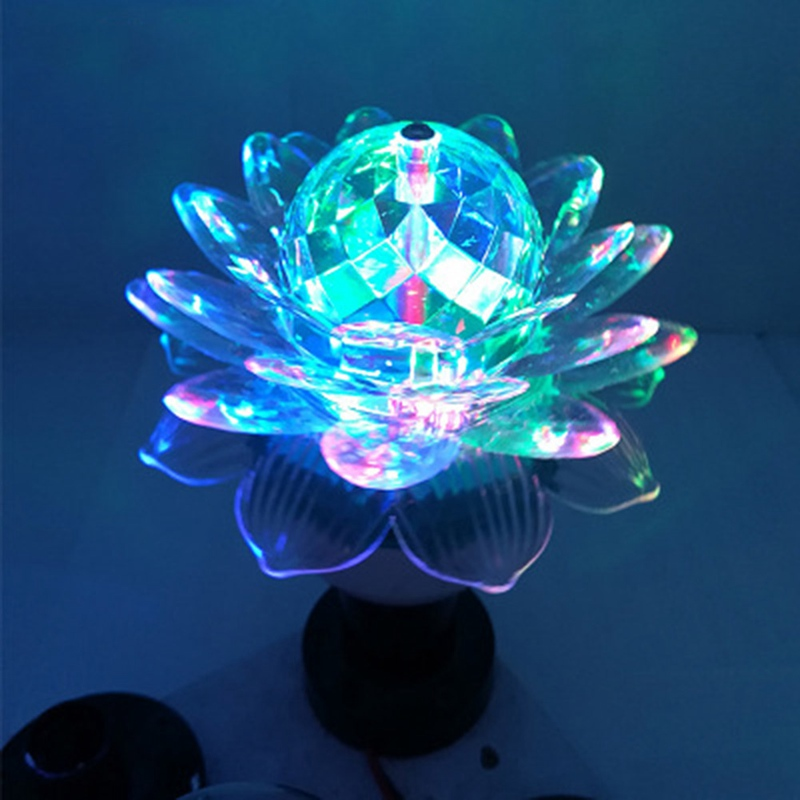 220V 3W Colorful Auto Rotating RGB LED Bulb Stage Light Party Lamp Disco for home decoration crystal magic lamp