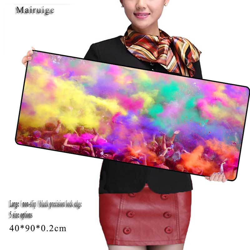 Mairuige Colorful Art LControl Speed MousePad Mat Large <font><b>900x400</b></font> Mm Gaming Edition Locking Edge for E-sports Gaming Mouse Pad image