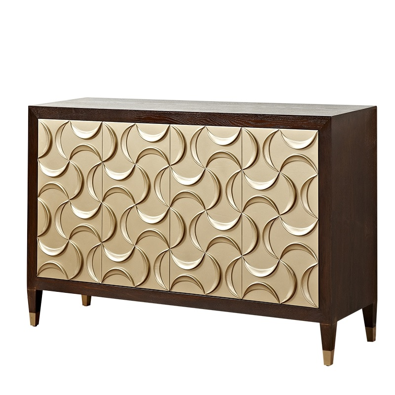 "90cm(35"") High Gold Foil Console Cabinet / Side Cabinet"