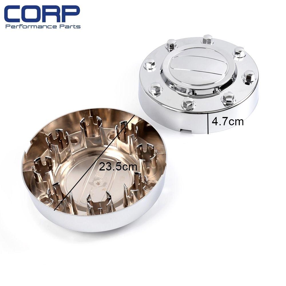 Fits 11-16 Ram 3500 1-Ton Dually Front Alcoa Alloy Wheel Center Caps In Pair
