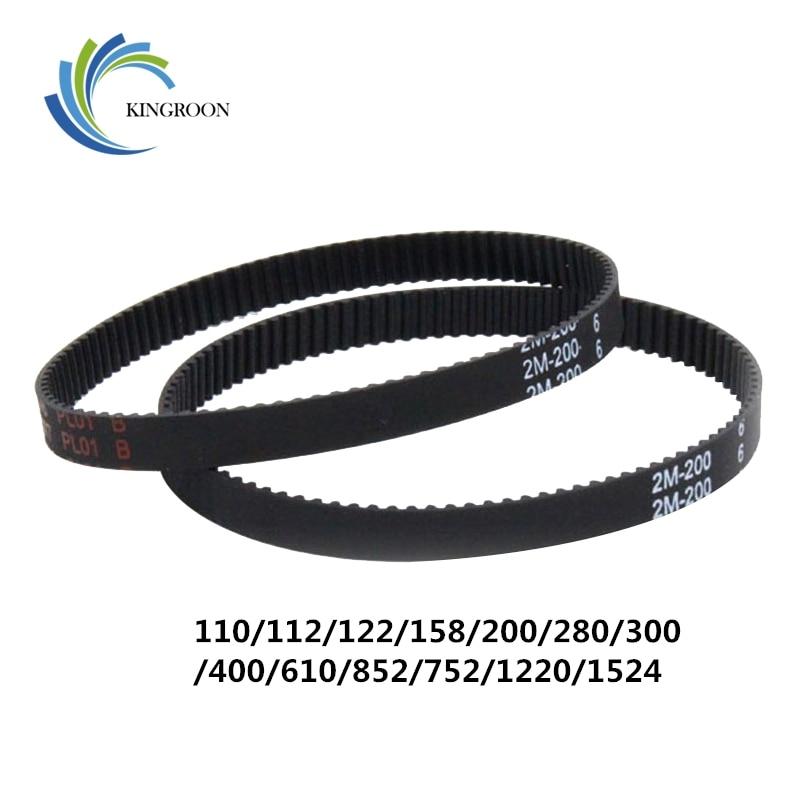 10 unids 2GT de bucle cerrado momento cinturones GT2 6mm síncrona de caucho a 110, 112, 122, 158, 200, 280, 300, 400, 610, 852mm 3D impresoras parte