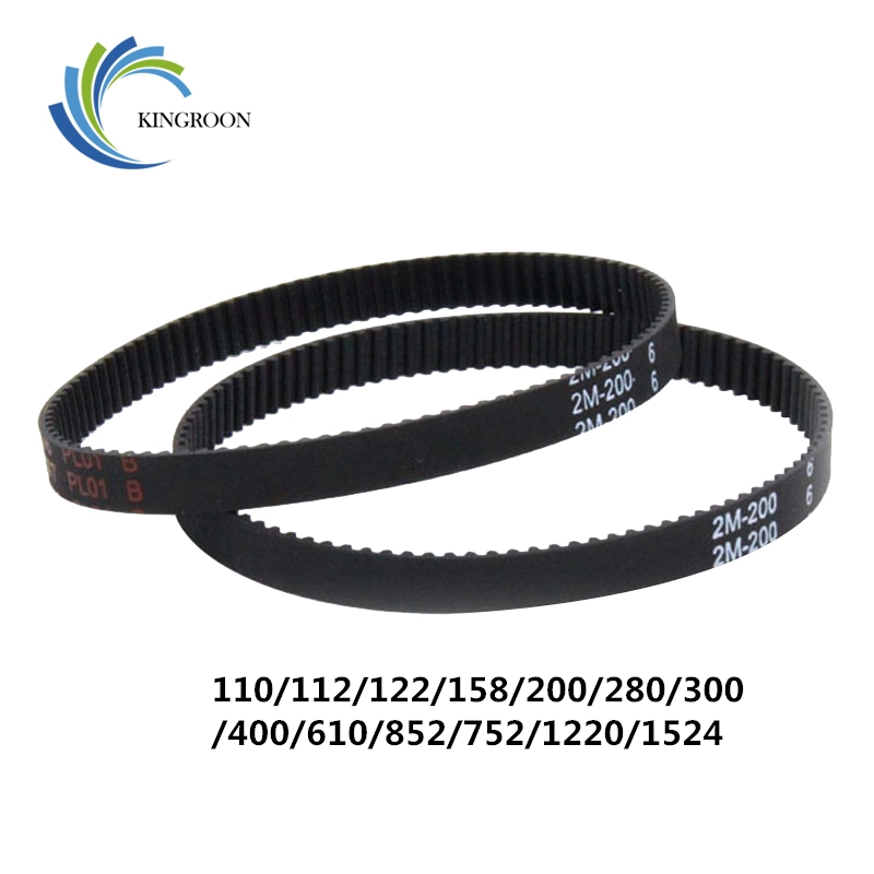 10pcs 2GT Closed Loop Timing Belts GT2 6mm Rubber Synchronous Parts 110 112 122 158 200 280 300 400 610 852 Mm 3D Printers Part