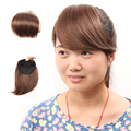Clip in Bangs Fake Hair Extension Hairpieces False Hair Piece Clip on Front side Bang For Women Synthetic Hair Fringe Bangs 1PC