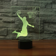 USB Plug Basketball Player Colorful  LED Night Light Children Gift Touch Atmosphere Lamp Living room Desk Lamp Kid Night Lamp icoco usb charging led hourglass night light time record atmosphere sandglass desk lamp gift 2018 new version