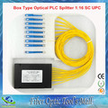 Free Shipping Fiber Optic Splitter Box Type Optical Splitter PLC 1:16 SC UPC Connector 2.0mm 1m