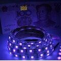 Dc12v 1 - 5 m UV luz Led 5050 SMD 60led / m ip65 / impermeável lâmpada ultravioleta Ray roxo fita fita flexível