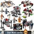 Juguetes de niño modelos de Star Wars bloques Asamblea serie Técnica mini bloques de construcción figuras juguetes para niños compatibles StarWars conjuntos