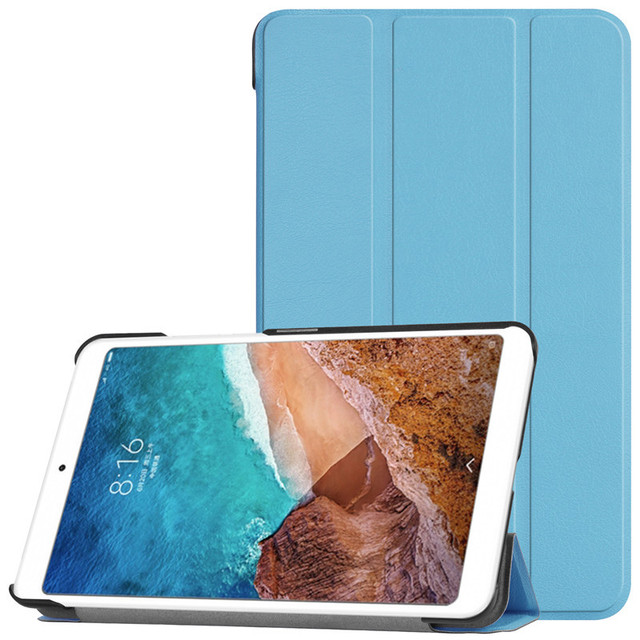 reputable site 53891 b6d72 US $10.17 36% OFF|PU Leather Case For Xiaomi Mipad 4 Smart Case Ultra thin  Folding Intelligent Flip Cover Protective Shell-in Tablets & e-Books Case  ...