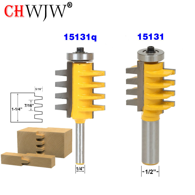 1PC 1/2 inch Shank Rail and Stile Finger Joint Glue Router Bit Cone Tenon Woodwork Cutter Power Tools 2pcs high quality 1 2 inch shank rail