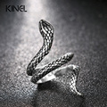 Fashion Snake Rings For Women Plating Silver Heavy Metals Punk Rock Ring Vintage Animal Jewelry Wholesale
