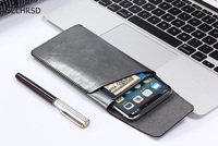 Ultra Thin Super Slim Microfiber Leather Case Stitch Sleeve Pouch Cover For Redmi 4x Ulefone Metal