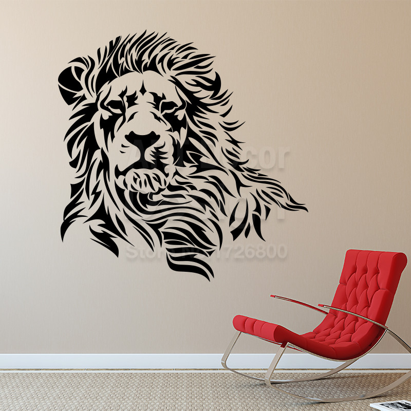 aliexpress : buy lion wall sticker home decor vinyl animal wall