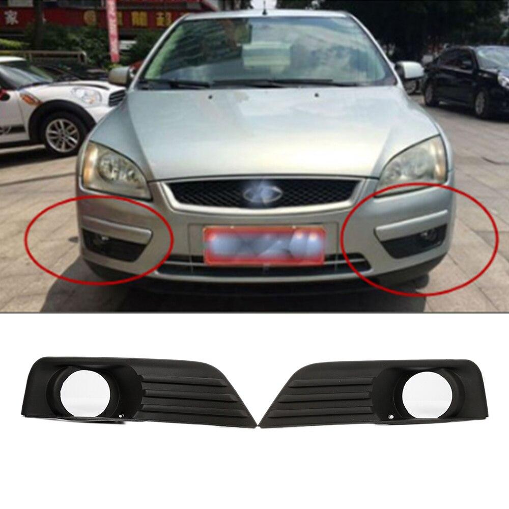 2pcs Black Car Front Left Right Fog Lights Grille for 2004 2005 2006 2007 2008 Ford