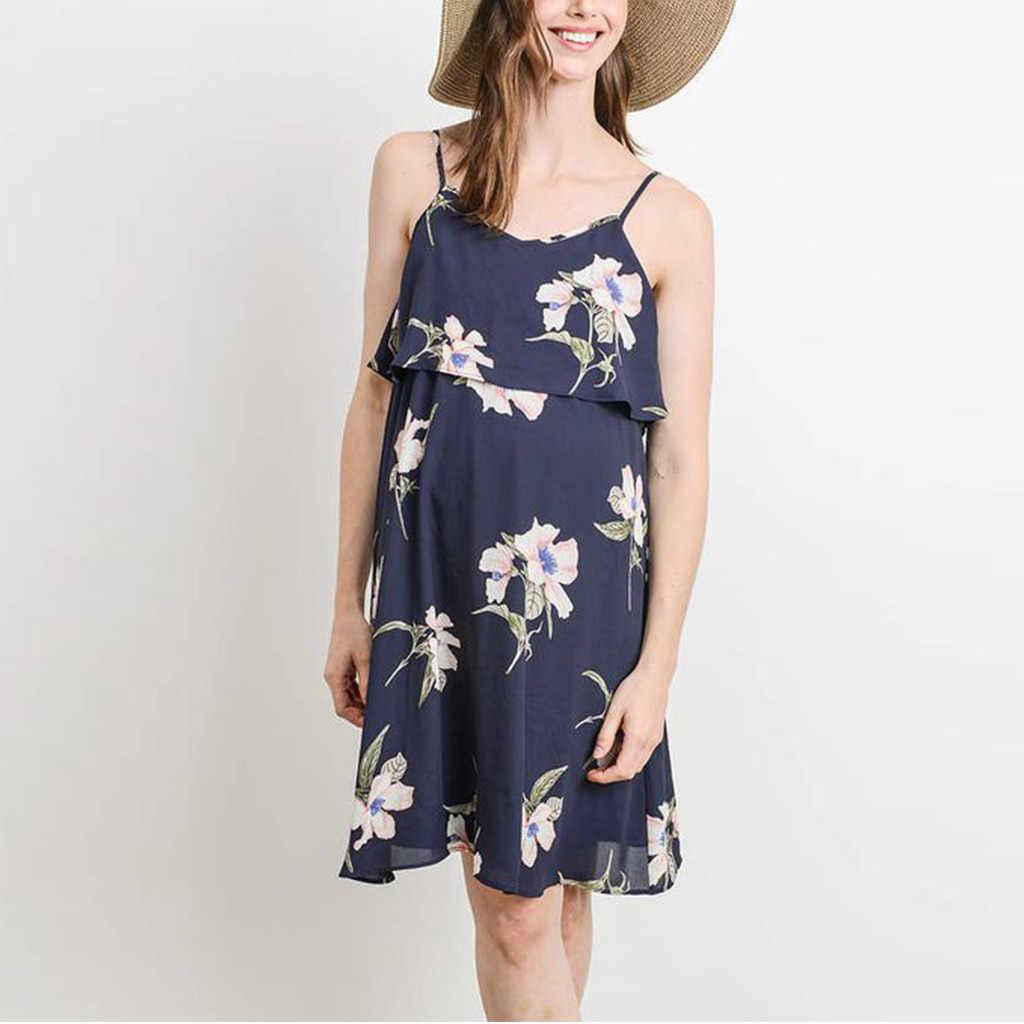 0323a14a27146 maternity dresses for Women's Floral V Neck sleeveless Long Vest ...