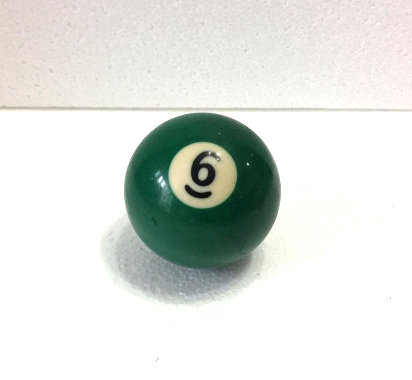 Free Shipping 1pcs NO.6 Pool Snooker Billiard Table Cue NO.6 Ball 2-1/4
