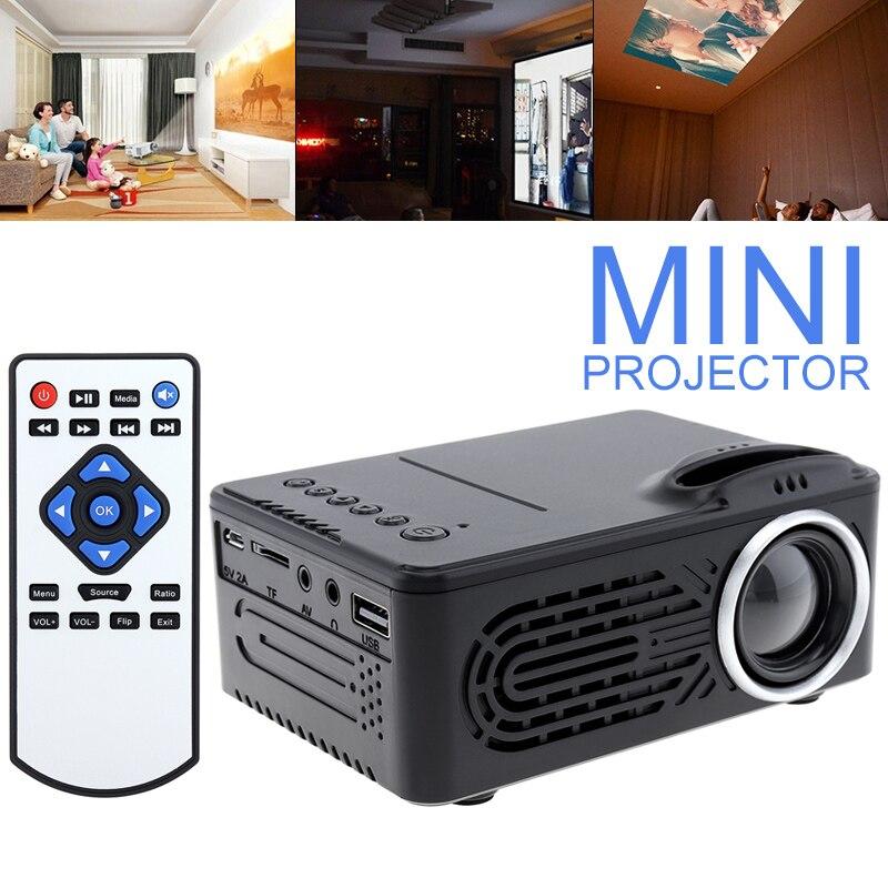 RD814 Mini TFT LCD LED projecteur de poche 1080P Portable HD projecteur Home Cinema USB projecteur pour Projection d'écran de 80 pouces