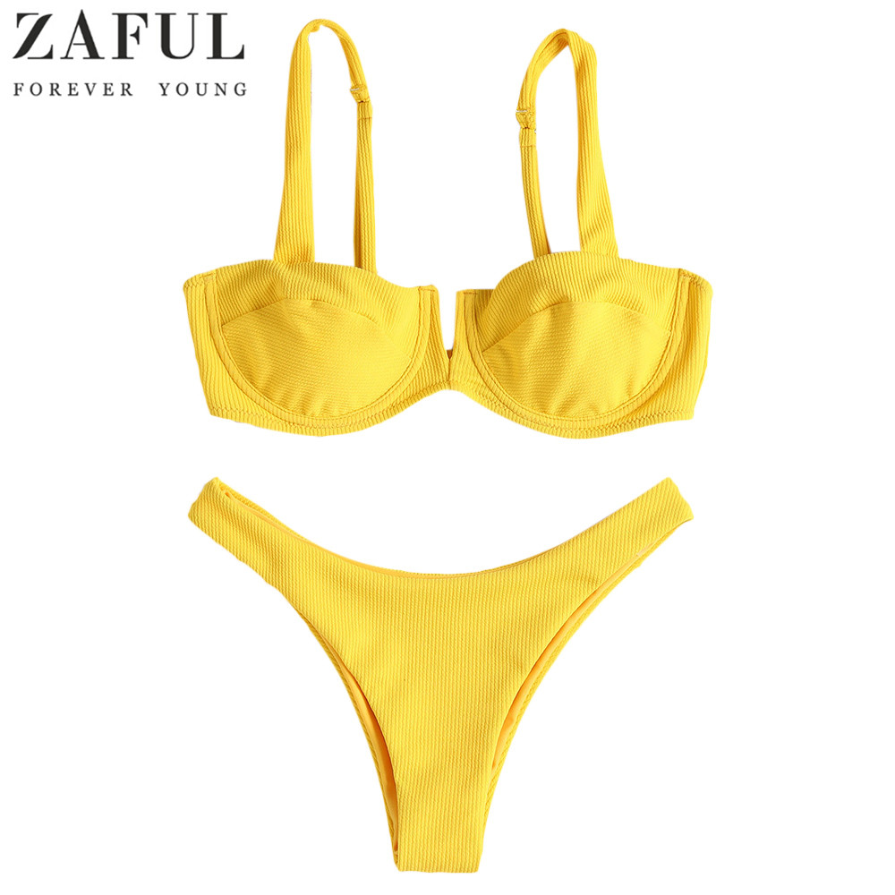 791aedf0df4f9 Buy yellow bikini zaful and get free shipping on AliExpress.com