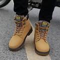 Súper Caliente del Invierno de Los Hombres Botas Hombres Botas de Invierno de Cuero Artificial zapatos de Trabajo Negros Zapatos Botas Tobillo Botas de Piel De Los Hombres Hombre