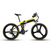 Lankeleisi XT750 Katlanabilir Dağ Akıllı Elektrikli Bisiklet Tam Suspenion 250 Watt 36 V Pil 17*26 inç 27 Yılında 12.8A Hızları bisiklet