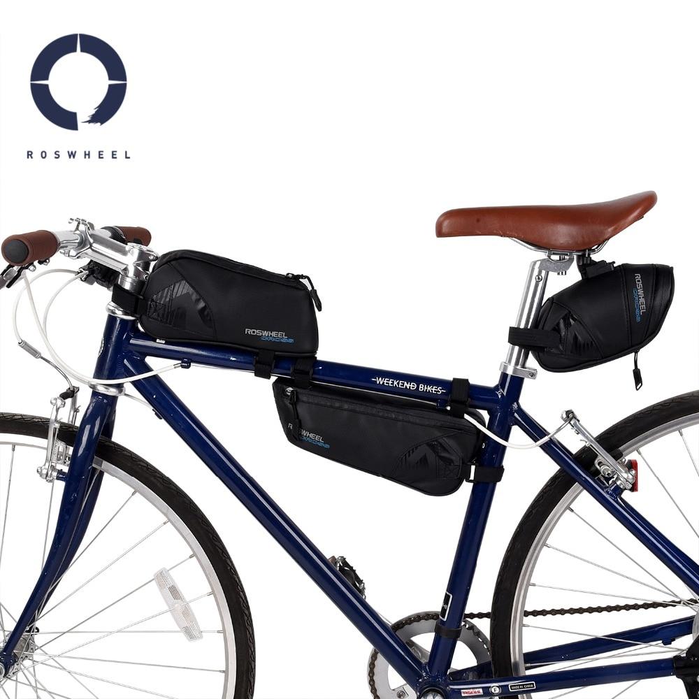 SAHOO Bolsa para Manillar de Bicicleta Bici Bolso Bicicleta Bolso del Marco Bolso tel/éfono de la Bici Impermeable 1L el Nylon Bicicleta Bolsa Tubo Bolso de TopTube Bolsa Delantera de Bicicleta MTB
