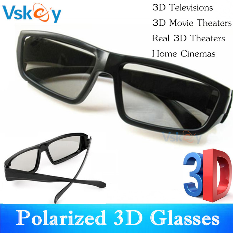 VSKEY 6pcs Polarized Passive 3D Glasses For Passive 3D Televisions TV RealD Movies Home Cinema Theaters System
