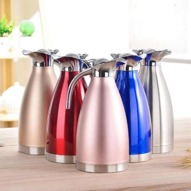 2L Double Stainless Steel Coffee Pot Vacuum Insulation Jug for Home Tea Kettle