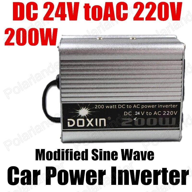 200 Вт USB порт зарядное устройство 24 В постоянного тока в переменный ток 220 В модифицированный синусоидальный автомобильный трансформатор на