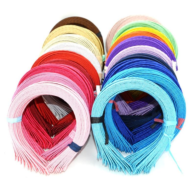 10Pcs/lot Fashion Children Hairbands 5MM Satin Candy Color Hair Hoop Ribbon Kids DIY Headbands Girls Polyester Hair Accessories