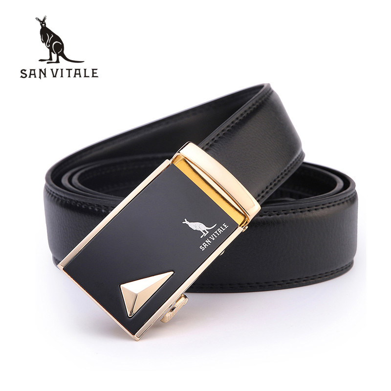 Fashion designer leather strap male automatic buckle belts for men - Apparel Accessories