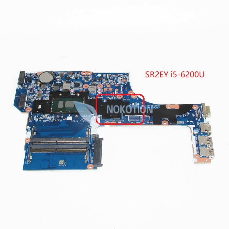 NOKOTION DAX63CMB6D1 Main Board For HP Probook <font><b>450</b></font> G3 Laptop Motherboard 15.6'' SR2EY i5-6200U DDR3L image