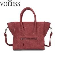 2017 Fashion Smile Bag Women High Quality Scrub Pu Leather Handbags Crossbody Bags For Women Designer
