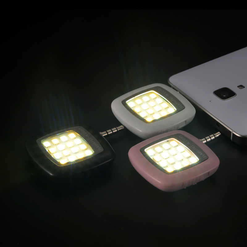 APEXEL  NEW Portable Rechargeable 16 Selfie Flash LED Camera Lamp Light For iPhone 6 6s p Samsung Xiaomi and other mobile Phones