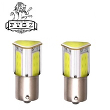 2Pcs py21w bau15s led Car COB 1156  LED 3W Turn Signal Rear Lights Bulb White 6000K 100lm