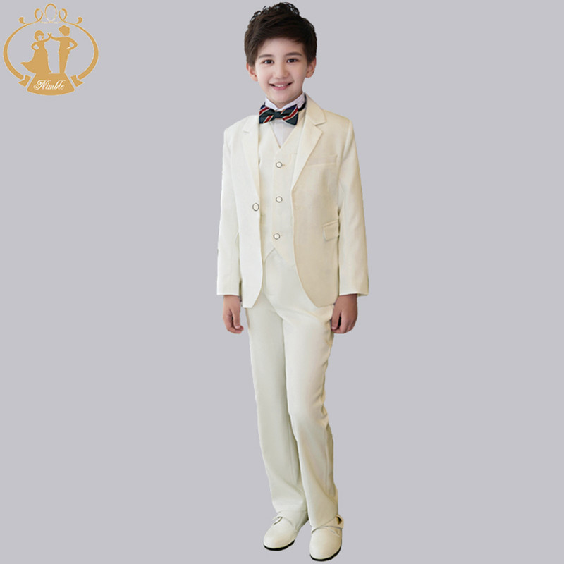Nimble White Boys Suits for Weddings Blazers for Boys Blazer Costume Enfant Garcon Mariage Terno Infantil