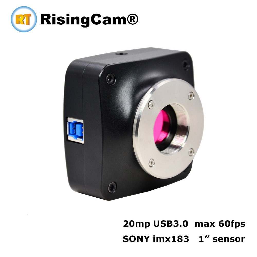 High resolution 20MP USB3.0 microscope Camera For Fluorescence application With 1inch Sony Sensor wood