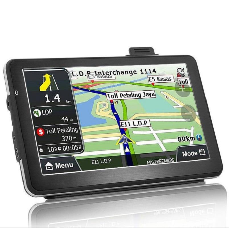 7 inch Car gps navigation 800Mhz CPU FM Transmitter Sat Nav Bundle free new maps