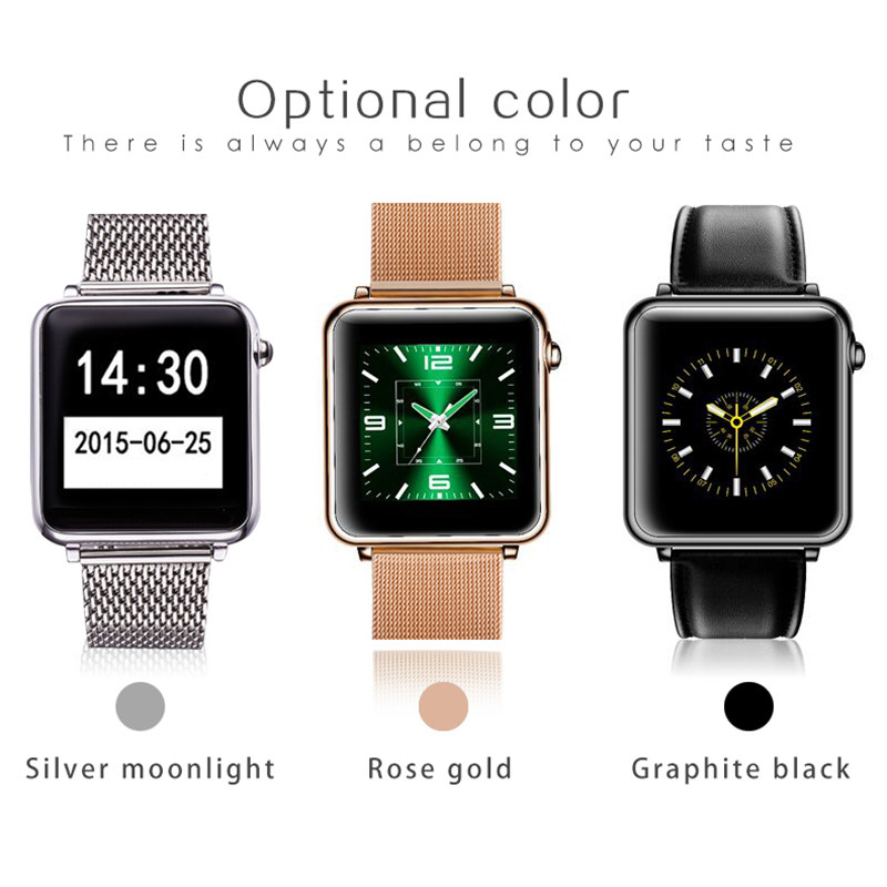 A9 A9S LW07 Bluetooth Smart Watch Wrist Smartwatch Men Wristwatch Wearable Device Metal Strap for Apple IOS Android Phone
