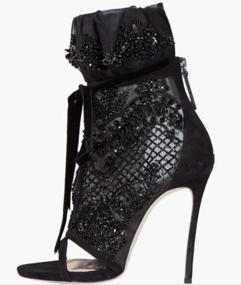 Cheap Black Lace Heels