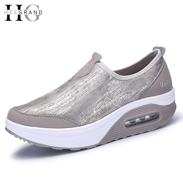 HEE GRAND 2017 Casual Creepers Slip On Loafers Spring Platform Shoes Woman Comfortable Women Shoes Flats Size 35-41 XWC1040